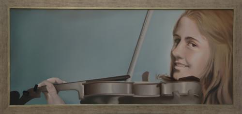 portret violiste